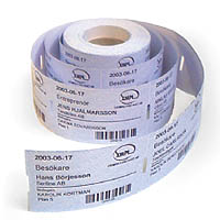 Etikettrulle 2500st etiketter thermo, 50x30 mm