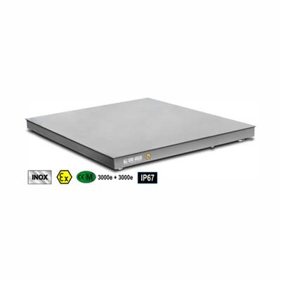 Floor scale platform completely in stainless AISI 304 IP67, 1500x2000x130, 1500kg/0,2kg